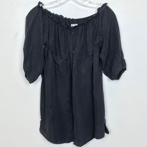 REFORMATION Off the Shoulder Button Down Blouse